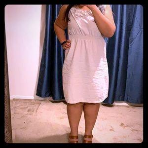 Linen beige dress